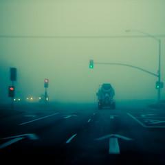 Follow Me (TheJbot) Tags: california road street morning light fog traffic foggy napa signal jbot thejbot