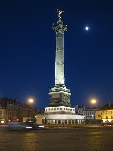 Le soir place Bastille