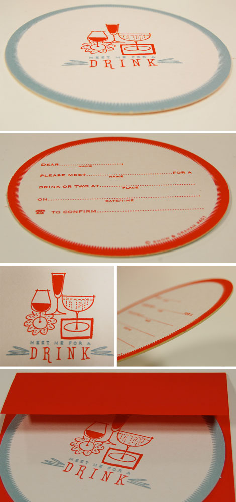 Meet Me Fill-In Invitation Coaster Cards, Invitations, Invitations by Snow & Graham | RedStamp.com :  card cards
