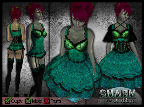 Charm EGL Fantasy Dress with Lingerie (Ocean)