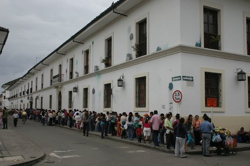 La Cuidad Blanca. Don't know what all these people were waiting for...