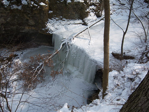 Frozen Indian Run Falls