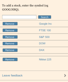 FT.com markets data