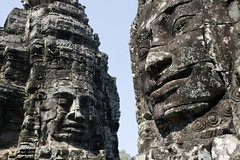 Carvings on the Bayon Temple