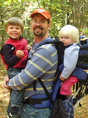 Marsh with the kids in the Robinson Woods