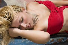 Sleeping (IL_Razza) Tags: sleeping red sea portrait sexy beauty fashion boat model glamour barca mare sleep moda veronica rosso ritratto bellezza modella