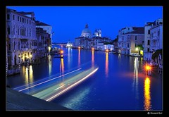 Venice night's lights - Luci Notture a Venezia (Giovanni Gori) Tags: longexposure bridge venice sea vacation italy holiday night landscape geotagged lights nikon italia mare tripod curves headlights ponte beam nightshots bluehour venezia notturna notte vacanza paesaggio accademia d90 orablu scie flickrsbest nikkor2470mmf28g luckyorgood platinumbestshot lightstrials giovannigori