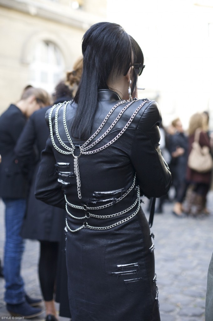 chained jacket at StyleSightings