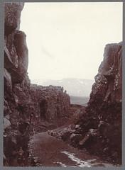 ingvellir.--Almannagj (down). (Cornell University Library) Tags: mountains lava roads rockformations cornelluniversitylibrary culidentifier:lunafield=accession almannagjingvelliriceland culidentifier:value=1923141