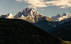 illuminated peaks (Youronas) Tags: sunset panorama mountains alps sonnenuntergang panoramic berge alpini alpen alto dolomites dolomiti sdtirol adige dolomiten cristalo drenstein taisten popena