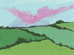 First View of France (Digital Sketch) by randubnick