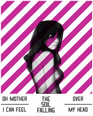 Stripes_I Know It's Over (JordanBSach) Tags: pink shadow eye art girl its illustration photoshop dead typography design is nipples graphic know stripes over queen designs smiths jbs the i