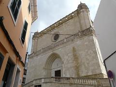 Façana de l'Església de Santa Eulàlia d'Alaior (Menorca)