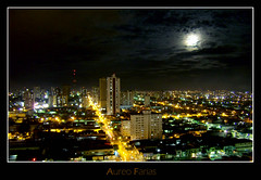 Belem at night (piradinho) Tags: city cidade brazil cloud moon streets brasil skyline night buildings lights amazon lua noite luzes nuvem pará ruas belém amazonia predios