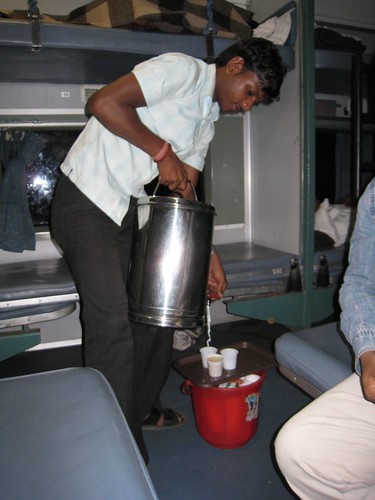 Chai tea - a staple offering on the trains