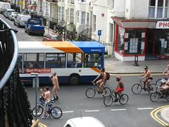 Naked bike ride