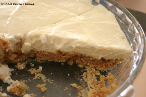 No Bake Key Lime Cheesecake: Sliced
