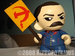 JOSEF STALIN (hippop0tamus) Tags: china art germany toys golden robot kid paint acrylic kim russia politics hitler vinyl korea il kidrobot josef mao leaders custom adolf liquid stalin jong dictators zedong munny