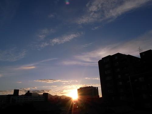太陽下山去