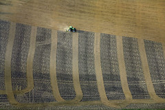 Traktor, painting (Aerial Photography) Tags: brown field by bayern la traktor agricultural deutschlandgermany ndb fieldart sculpturetrouve flickrbestpics haunwanglkrlandshut