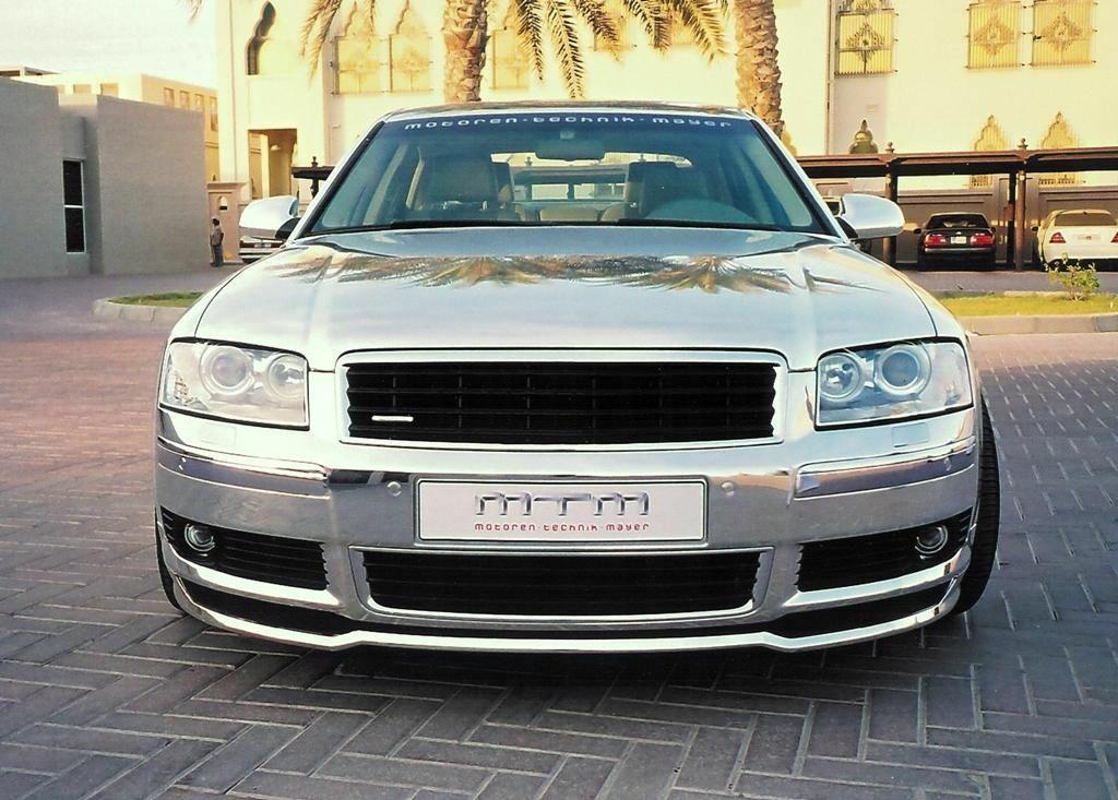 Silver Audi Made From