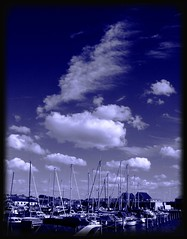 Blue tone (Kirsten M Lentoft) Tags: blue sky clouds denmark boats harbour monotone onblue hundested blueribbonwinner firstquality momse2600 multimegashot imcrossingfingers sweetdreamsmmmmuaahh goodnightdearestkirsten kirstenmlentoft