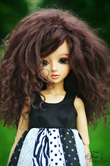 Windy out! (Emily Szettella) Tags: blue outside doll gabby cara wig mohair tanned latidoll lati miyukidollfie lilstiches