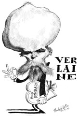 VERLAINE, Paul (Morales de los Ros) Tags: writers caricaturas philosophers caricatures escritores filsofos