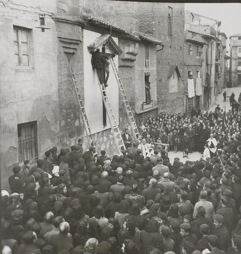 Acto de desagravio al Cristo de Santo Tomé, Toledo. Fotografía Rodríguez
