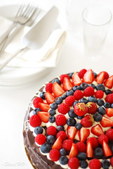 Berries & Chocolate cake (*steveH) Tags: food cake dessert strawberry berry berries sweet chocolate explore blueberry raspberry chocolatecake steveh berrycake