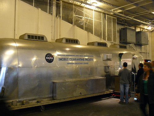 NASA Mobile Quarantine Facility, for isolating lunar astronauts after their return (on the Hornet's hanger deck)