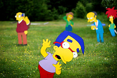 milhouse is terrified of life (brantastic) Tags: canada canon sara novascotia wtf whycocomagh canon30d simpsonshouse soawesome visitingsara lifesizesimpsonschara lifesizewoodensimpsonscharacters insomeonesfrontlawn