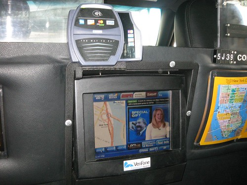 New York cab GPS and entertainment systems