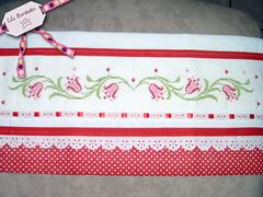 Flores (Lila Bordados em Ponto Cruz) Tags: decorao cozinha bordado pontocruz panosdeprato