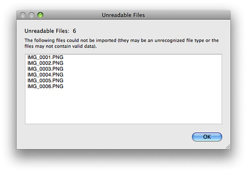 Unreadable files...