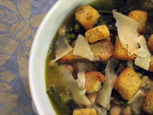 Broccolini and Cannellini Bean Soup