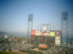 San Francisco Giants scoreboard