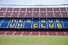 F.C.B - Ms que un club (t_buchtele) Tags: barcelona unicef club football spain nikon barca soccer d70s catalonia catalunya campnou bara sanctus noucamp catalua fcb laliga culers blaugrana futbolclubbarcelona culs catalonha msqueunclub tomasbuchtele