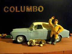 Scratch-Built 'Columbo' Peugeot 403 Car: Plastic Model Car By HELLER: Diorama - 6 of 10 (Kelvin64) Tags: show dog car tv cop series peugeot diorama columbo columbos lieutenent