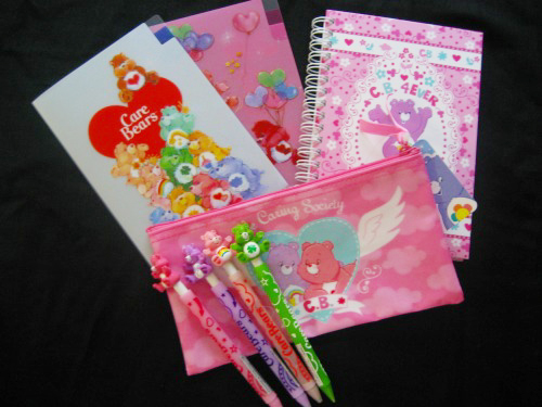 Care bears stationeries