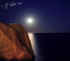 SILVER MOON (GIUSEPPE GRECO PHOTO) Tags: sea summer moon seascape night canon landscape island star rocks mare 5d sanlorenzo ischia 70300 giuseppegreco