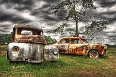 Old Car & Truck (upstatepano1) Tags: cars car truck rusty trucks oldcars hdr rustycars greenvillesc oldtrucks upstatesc