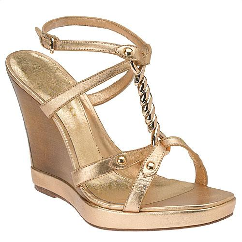 Nine West Sonya gold wedges
