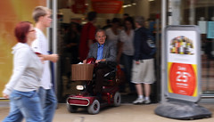 (JonnyBeee) Tags: old motion speed death town funny sad wheels oldman tesco busy help aged sainsburys bla letsdiewhilewereyoung wallytrolly