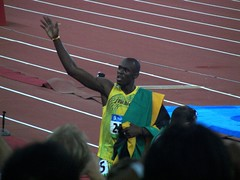 Usain Bolt after 200 m