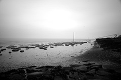 (vauka) Tags: longexposure light sea bw nature water contrast landscape empty calm northsea nd 32 tideland 1000x neutraldensity wesermarsch 7212 sehestedt monochromia nd110 aplusphoto