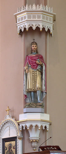 Saint Mary of Victories Chapel, in Saint Louis, Missouri, USA - statue of King Stephen of Hungary