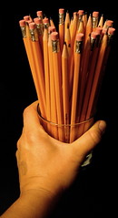 """I would send you a bouquet of newly sharpened pencils..."""