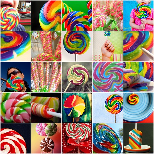 Monday Mosaic::Swirly Lollipops by simplyembellish.