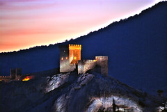 Ukraine, the Crimea, Sudak. (lights2008) Tags: sunset castle architecture night evening ukraine romantic 1001nights fortress hdr mountian thecrimea  sudak  theperfectphotographer